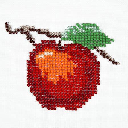 как вышить яблоко